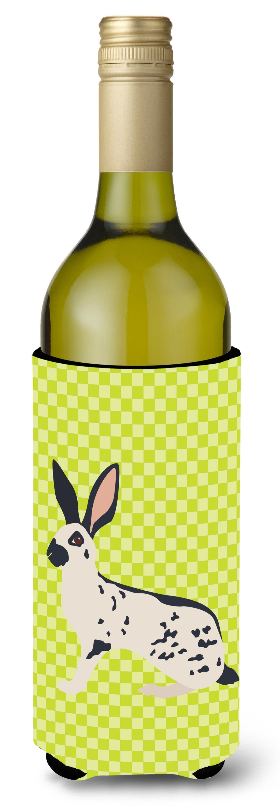 English Spot Rabbit Green Wine Bottle Beverge Insulator Hugger BB7787LITERK by Caroline's Treasures