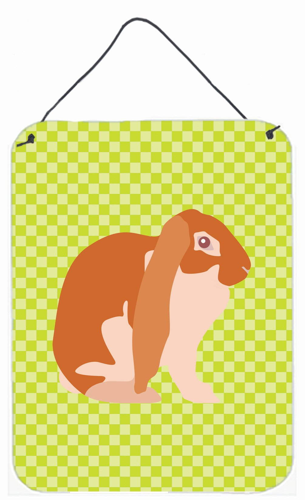 English Lop Rabbit Green Wall or Door Hanging Prints BB7788DS1216 by Caroline's Treasures