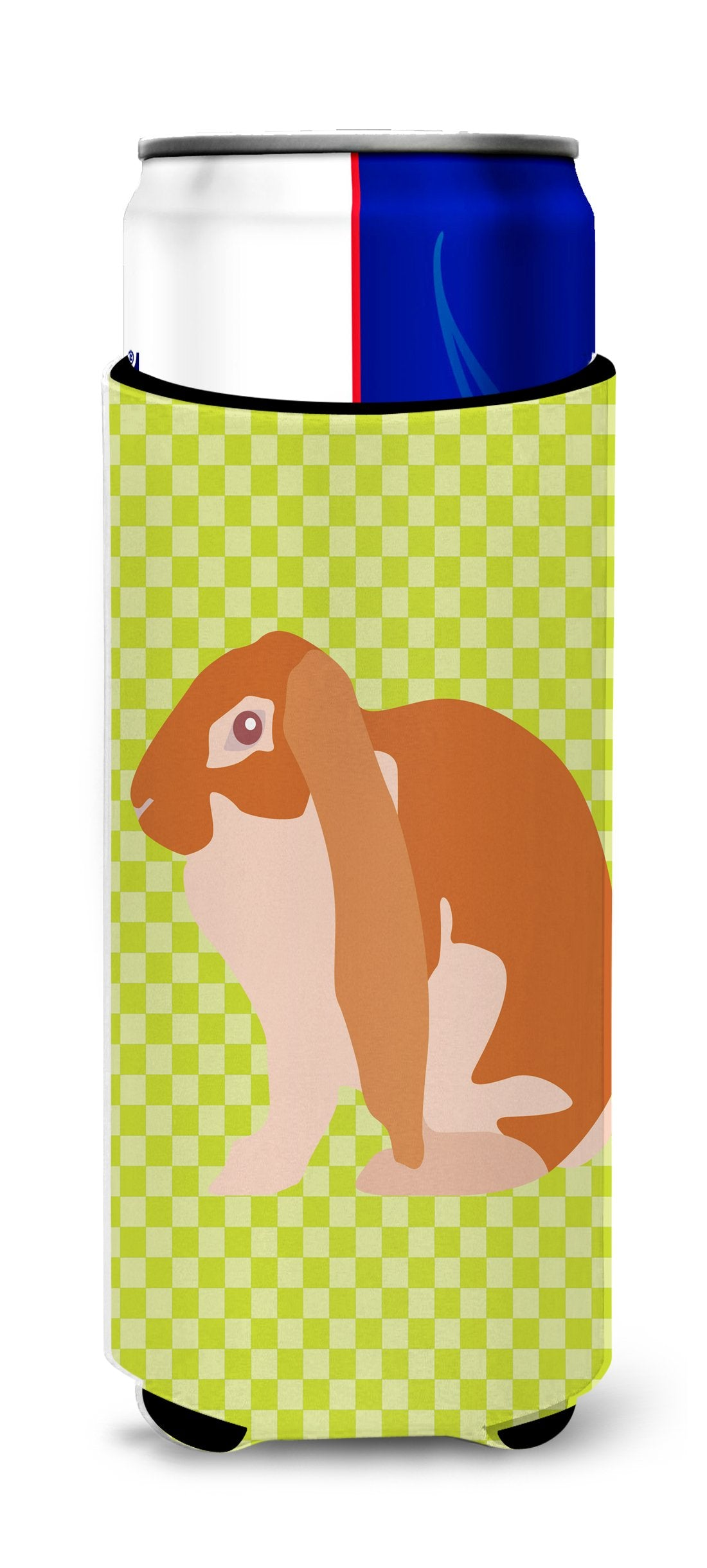 English Lop Rabbit Green Michelob Ultra Hugger for slim cans by Caroline's Treasures