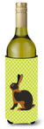 Tan Rabbit Green Wine Bottle Beverge Insulator Hugger BB7789LITERK by Caroline's Treasures
