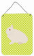 Hermelin Rabbit Green Wall or Door Hanging Prints BB7790DS1216 by Caroline's Treasures