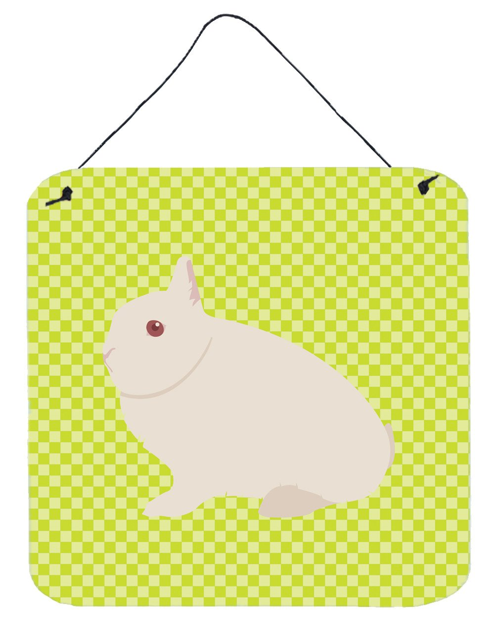 Hermelin Rabbit Green Wall or Door Hanging Prints BB7790DS66 by Caroline's Treasures