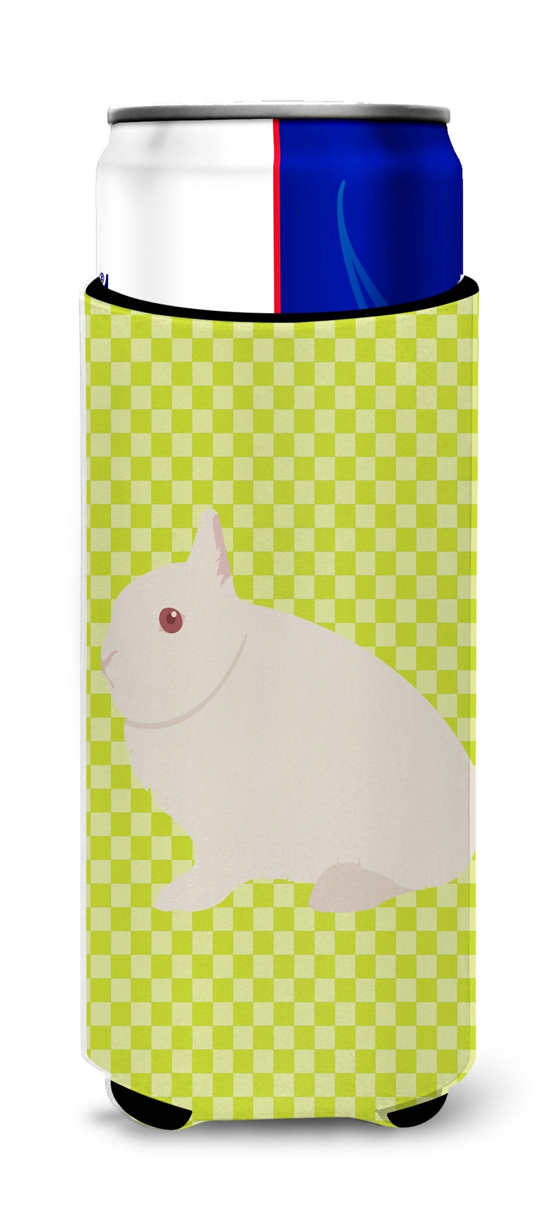 Hermelin Rabbit Green Michelob Ultra Hugger for slim cans by Caroline's Treasures