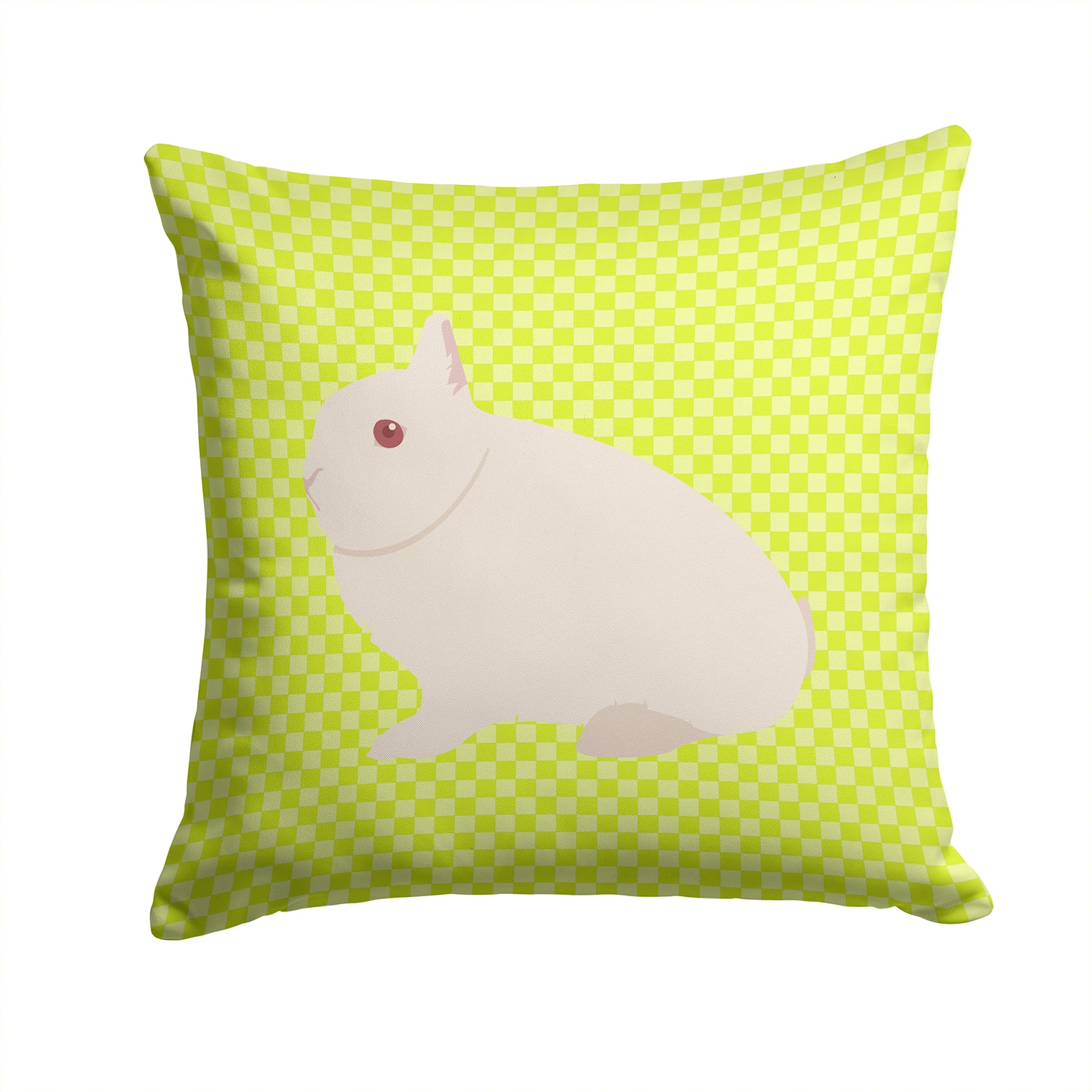 Hermelin Rabbit Green Fabric Decorative Pillow BB7790PW1414 by Caroline's Treasures