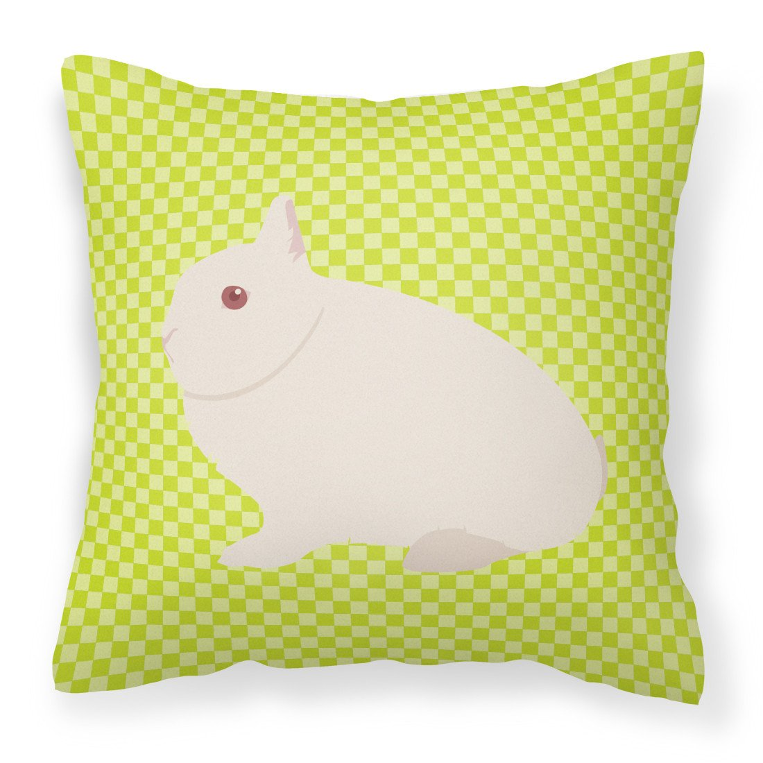 Hermelin Rabbit Green Fabric Decorative Pillow BB7790PW1818 by Caroline's Treasures