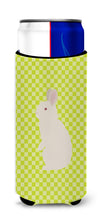 New Zealand White Rabbit Green Michelob Ultra Hugger for slim cans by Caroline's Treasures