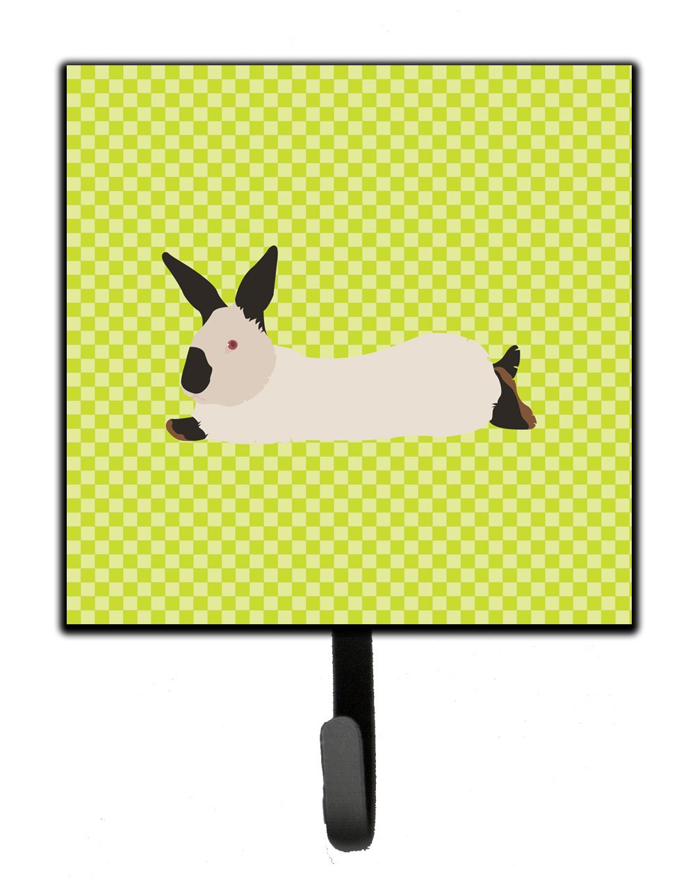 Buy this California White Rabbit Green Leash or Key Holder