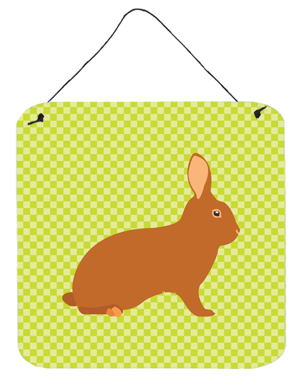Rex Rabbit Green Wall or Door Hanging Prints BB7795DS66 by Caroline's Treasures
