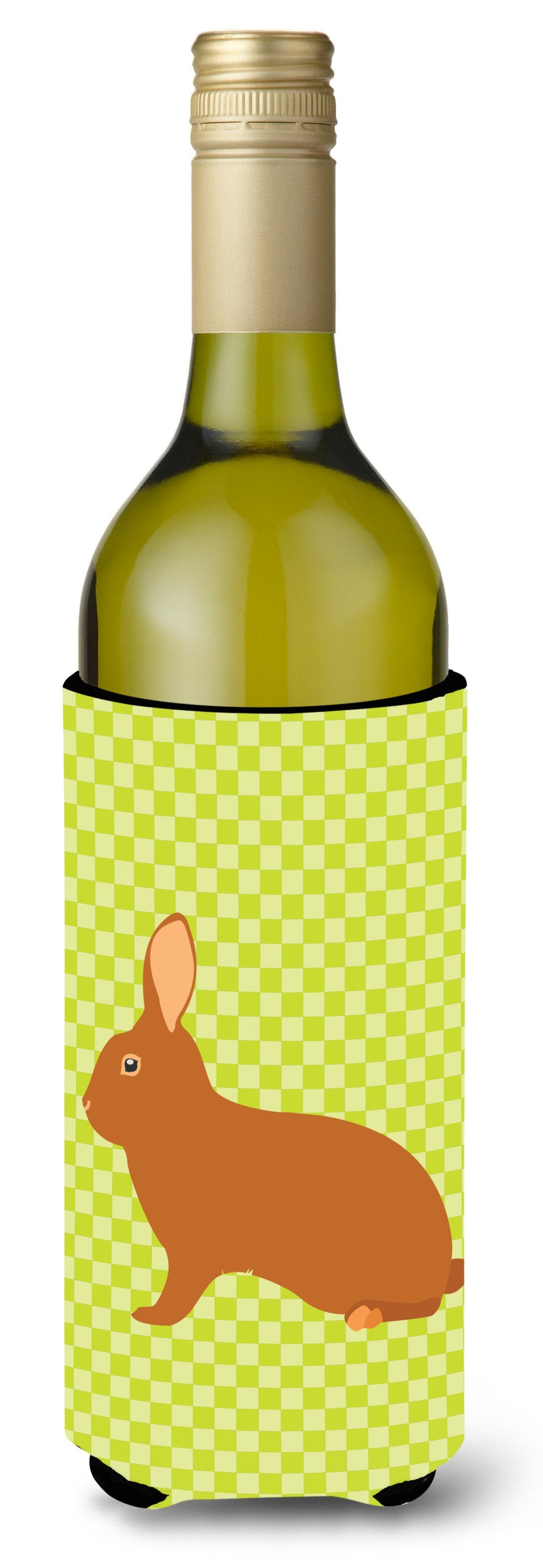 Rex Rabbit Green Wine Bottle Beverge Insulator Hugger BB7795LITERK by Caroline's Treasures