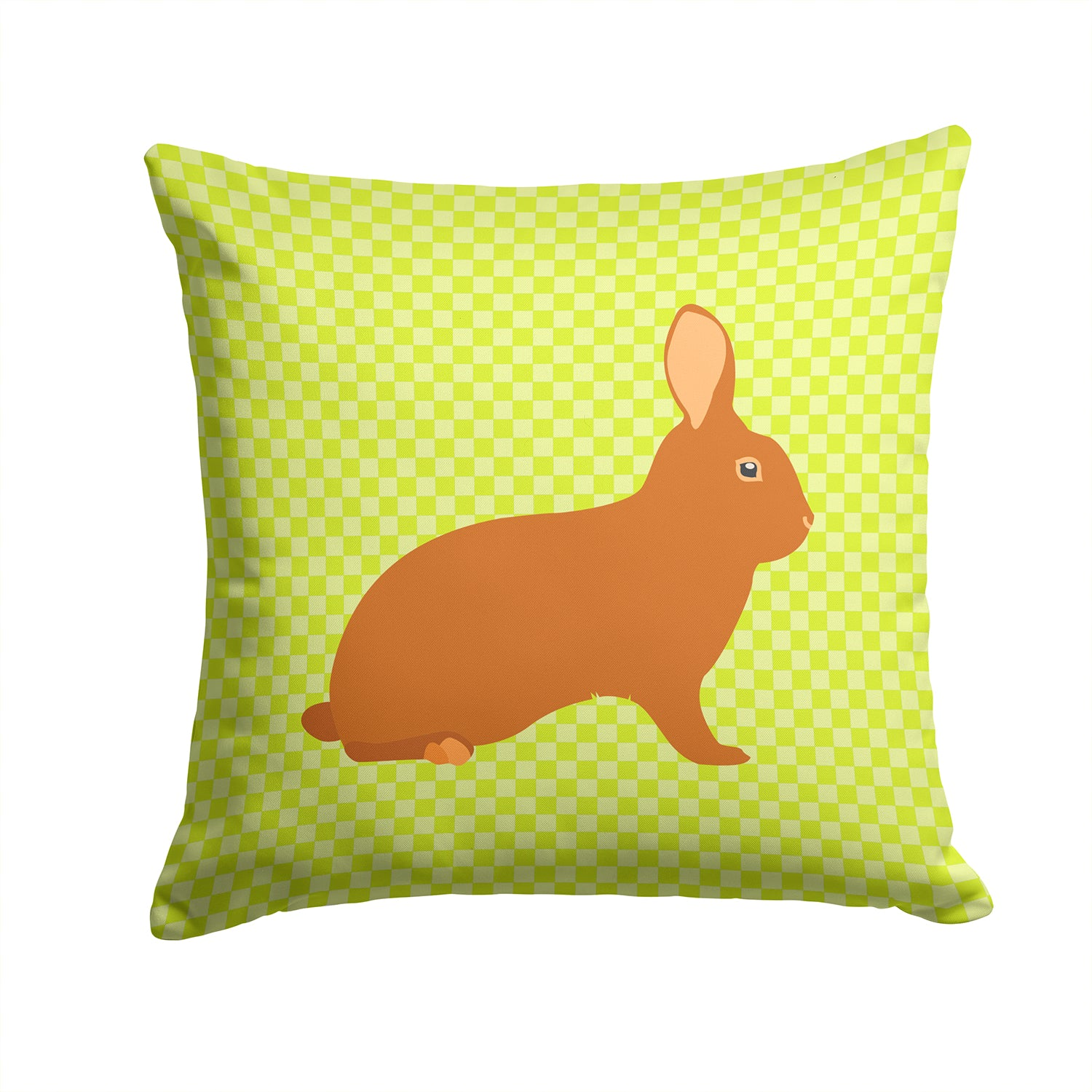 Rex Rabbit Green Fabric Decorative Pillow BB7795PW1414 by Caroline's Treasures