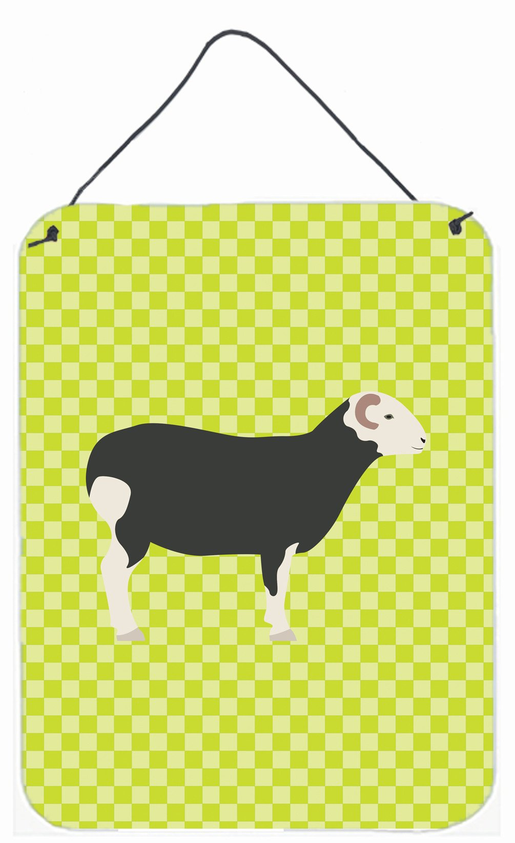 Herwick Sheep Green Wall or Door Hanging Prints BB7796DS1216 by Caroline's Treasures