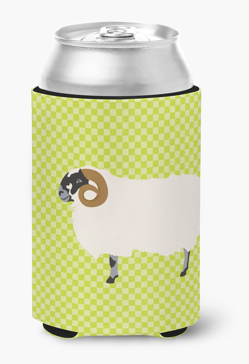 Scottish Blackface Sheep Green Can or Bottle Hugger BB7799CC by Caroline's Treasures