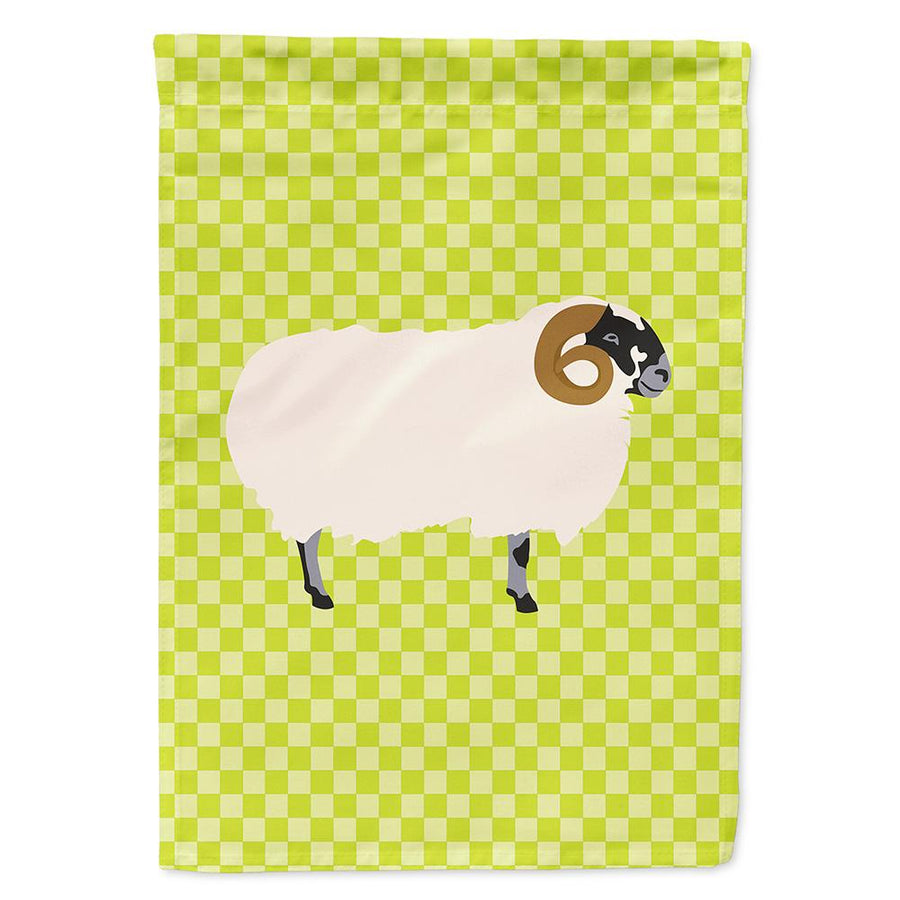 Buy this Scottish Blackface Sheep Green Flag Garden Size