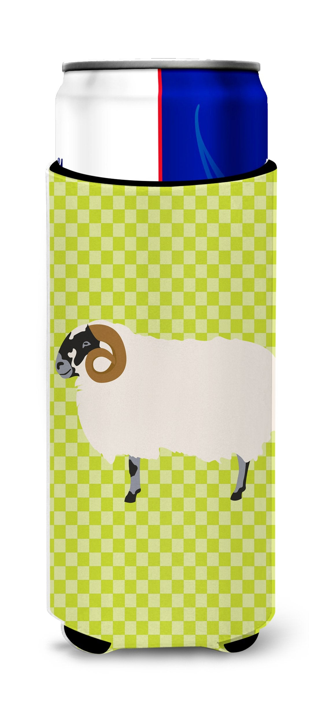Buy this Scottish Blackface Sheep Green Michelob Ultra Hugger for slim cans