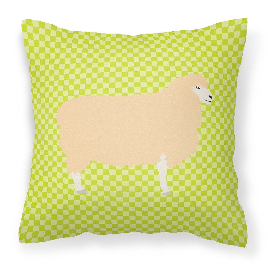 English Leicester Longwool Sheep Green Fabric Decorative Pillow BB7800PW1818 by Caroline's Treasures