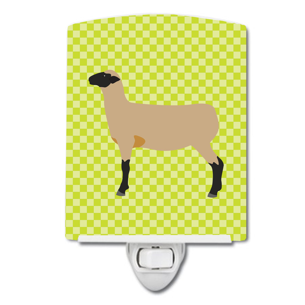 Hampshire Down Sheep Green Ceramic Night Light BB7802CNL by Caroline's Treasures