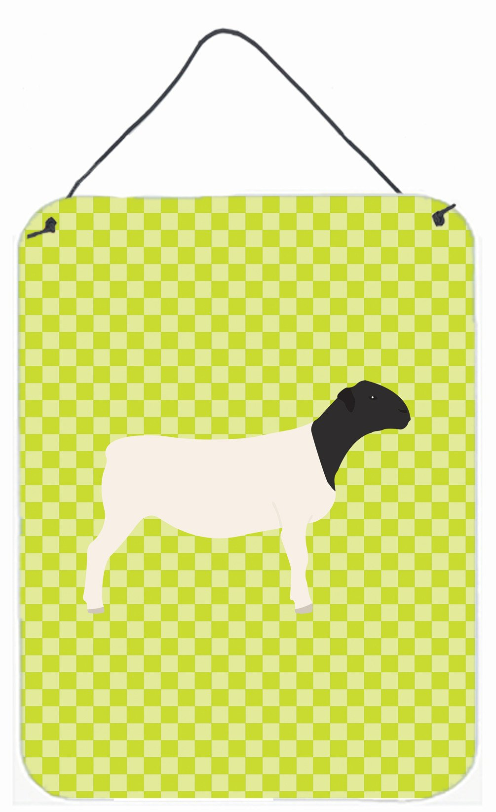 Dorper Sheep Green Wall or Door Hanging Prints BB7804DS1216 by Caroline's Treasures