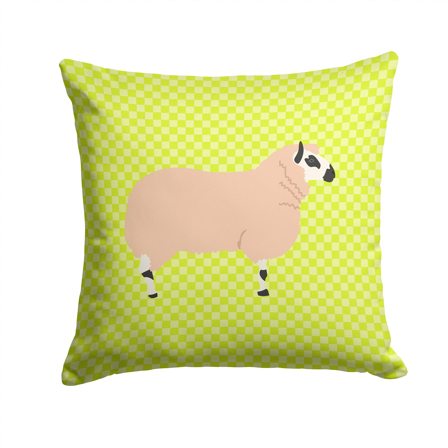 Buy this Kerry Hill Sheep Green Fabric Decorative Pillow BB7805PW1414