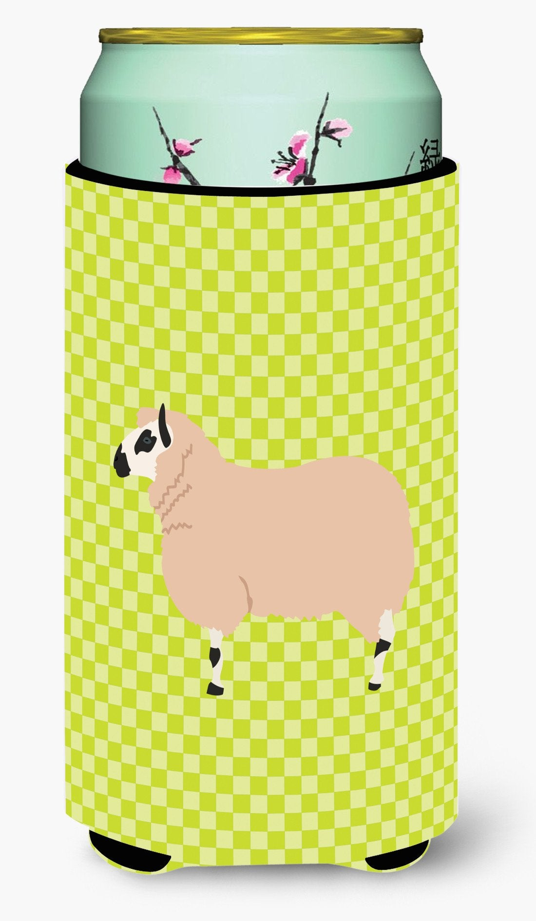 Kerry Hill Sheep Green Tall Boy Beverage Insulator Hugger BB7805TBC by Caroline's Treasures