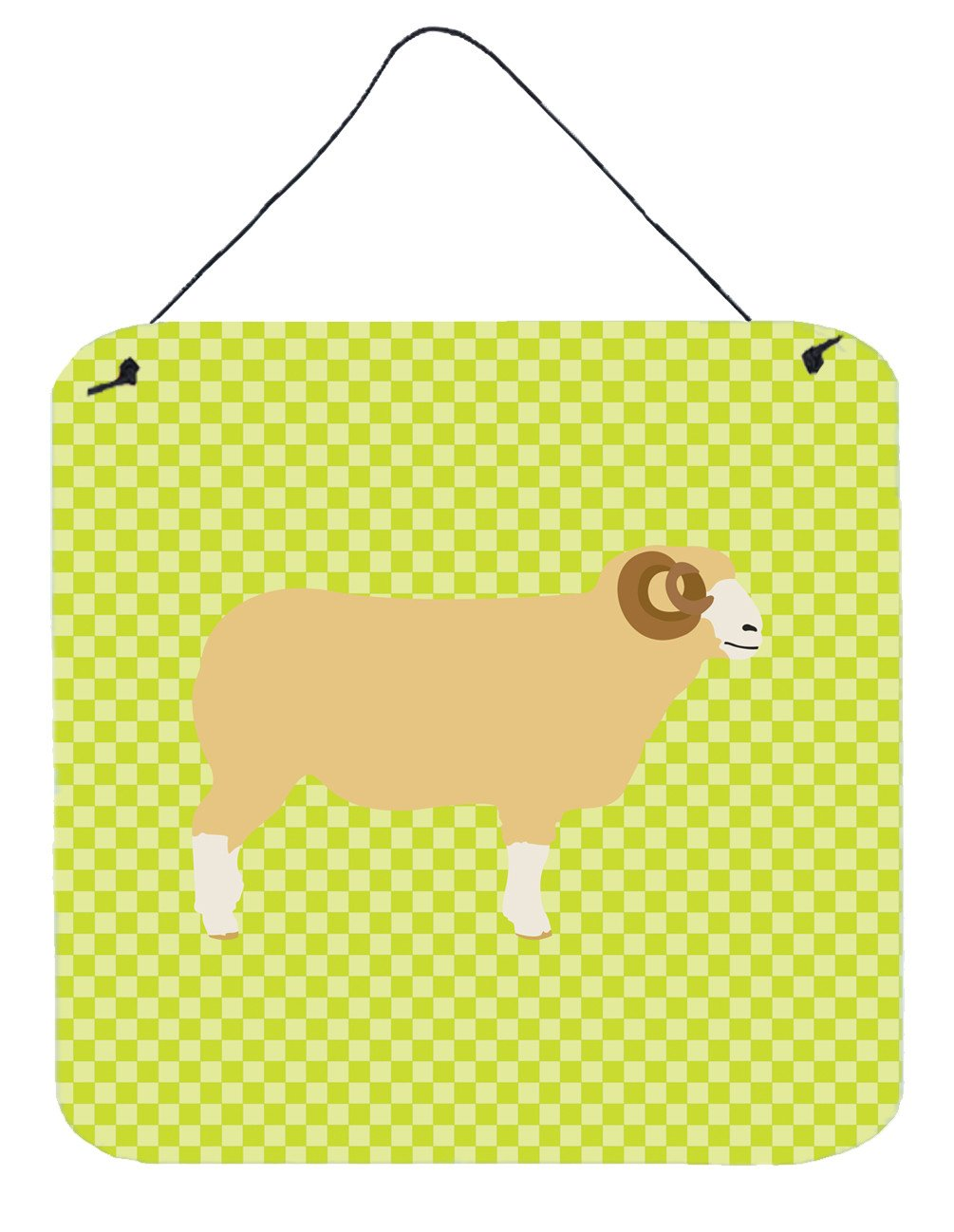 Buy this Horned Dorset Sheep Green Wall or Door Hanging Prints BB7806DS66