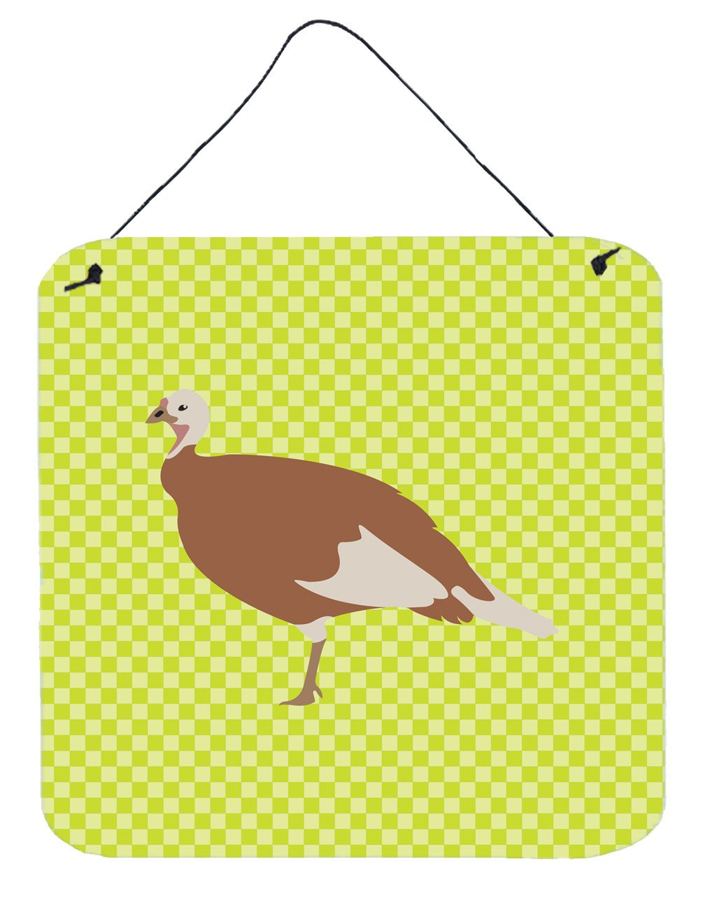Jersey Buff Turkey Hen Green Wall or Door Hanging Prints BB7810DS66 by Caroline's Treasures