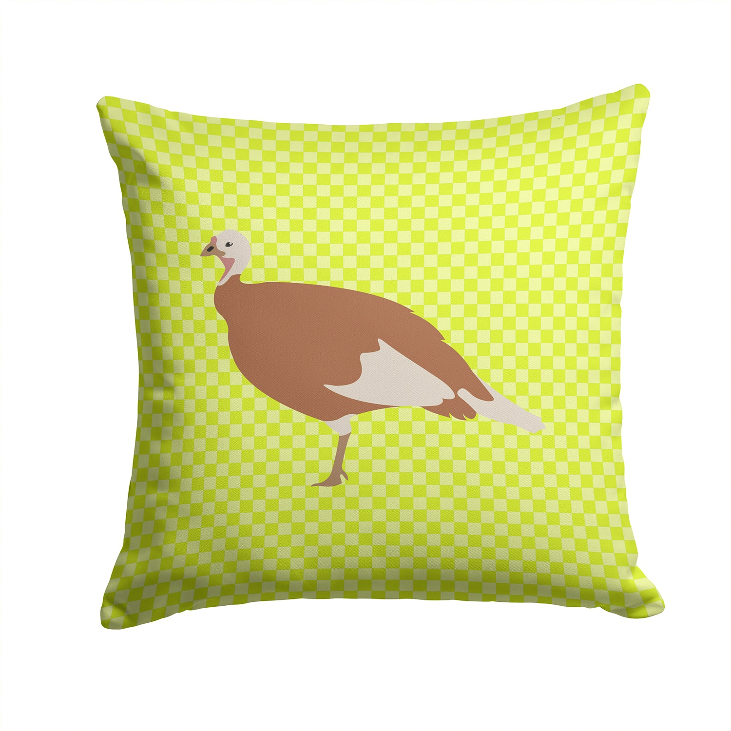 Jersey Buff Turkey Hen Green Fabric Decorative Pillow BB7810PW1414 by Caroline's Treasures
