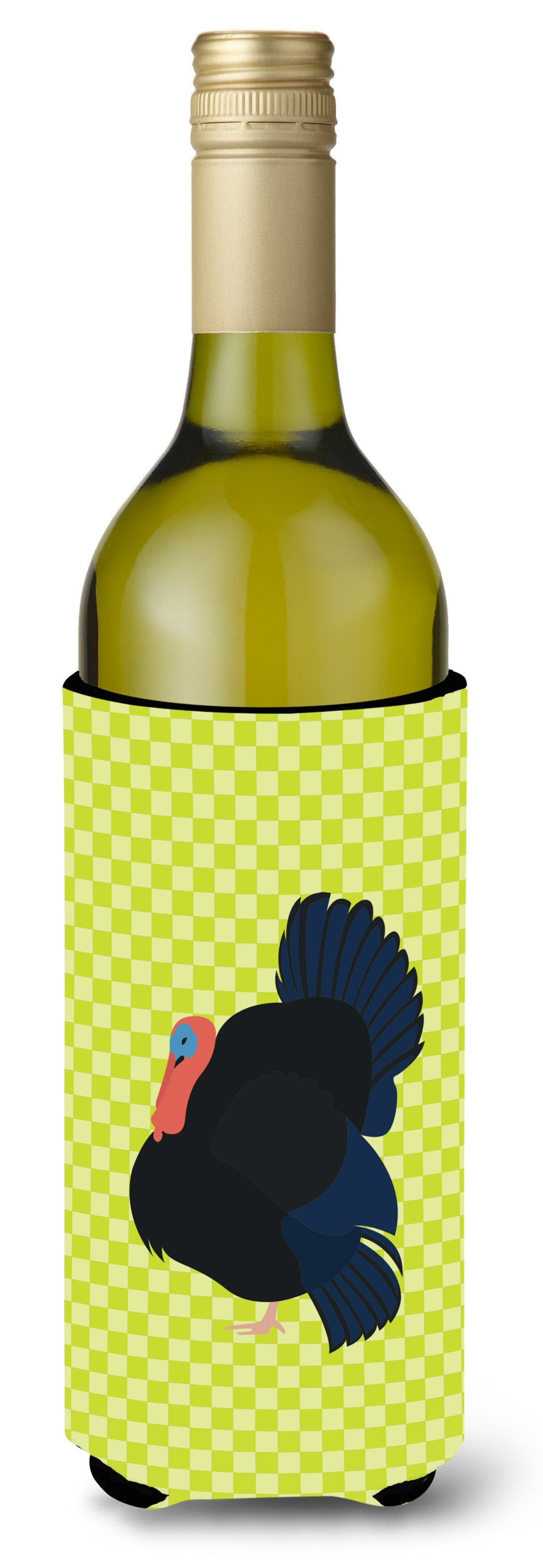 Norfolk Black Turkey Green Wine Bottle Beverge Insulator Hugger BB7811LITERK by Caroline's Treasures