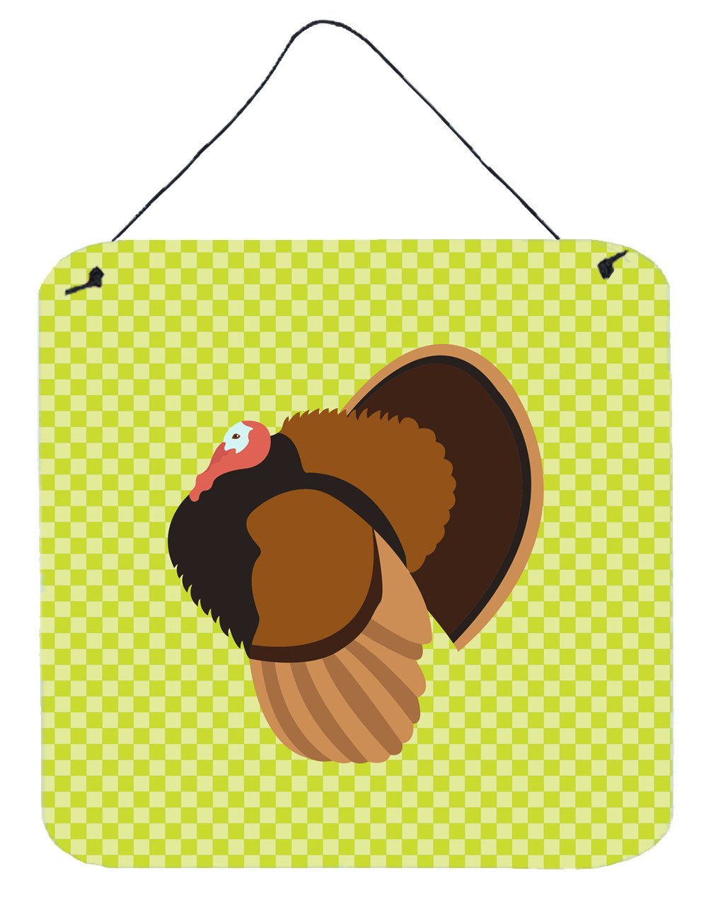 Bronze Turkey Green Wall or Door Hanging Prints BB7812DS66 by Caroline's Treasures