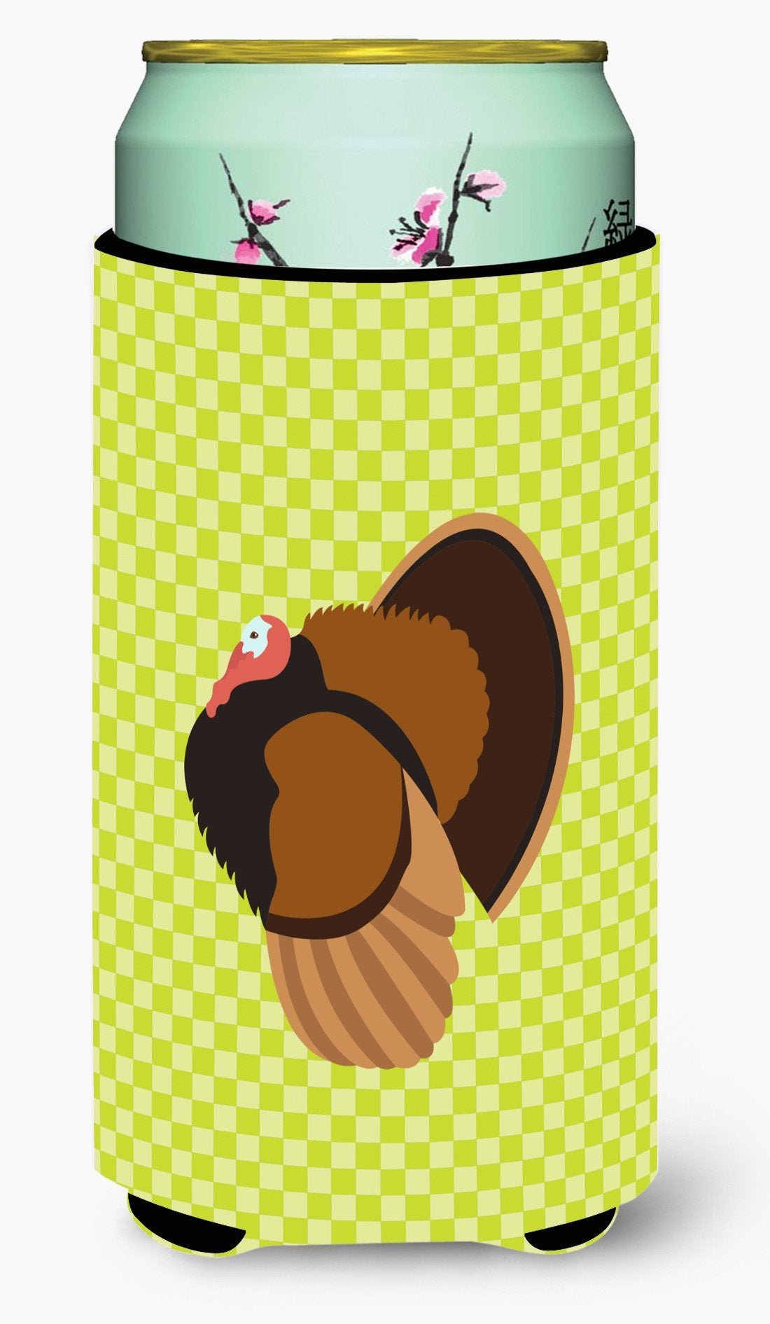 Bronze Turkey Green Tall Boy Beverage Insulator Hugger BB7812TBC by Caroline's Treasures