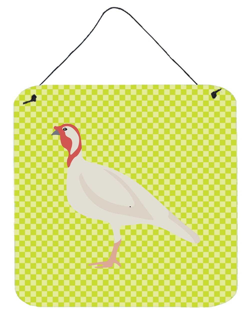 Beltsville Small White Turkey Hen Green Wall or Door Hanging Prints BB7815DS66 by Caroline's Treasures