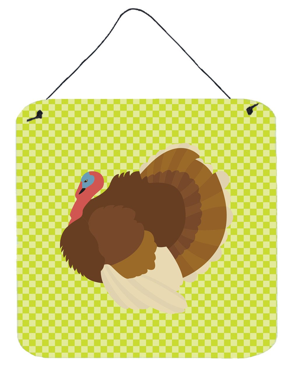 French Turkey Dindon Green Wall or Door Hanging Prints BB7816DS66 by Caroline's Treasures