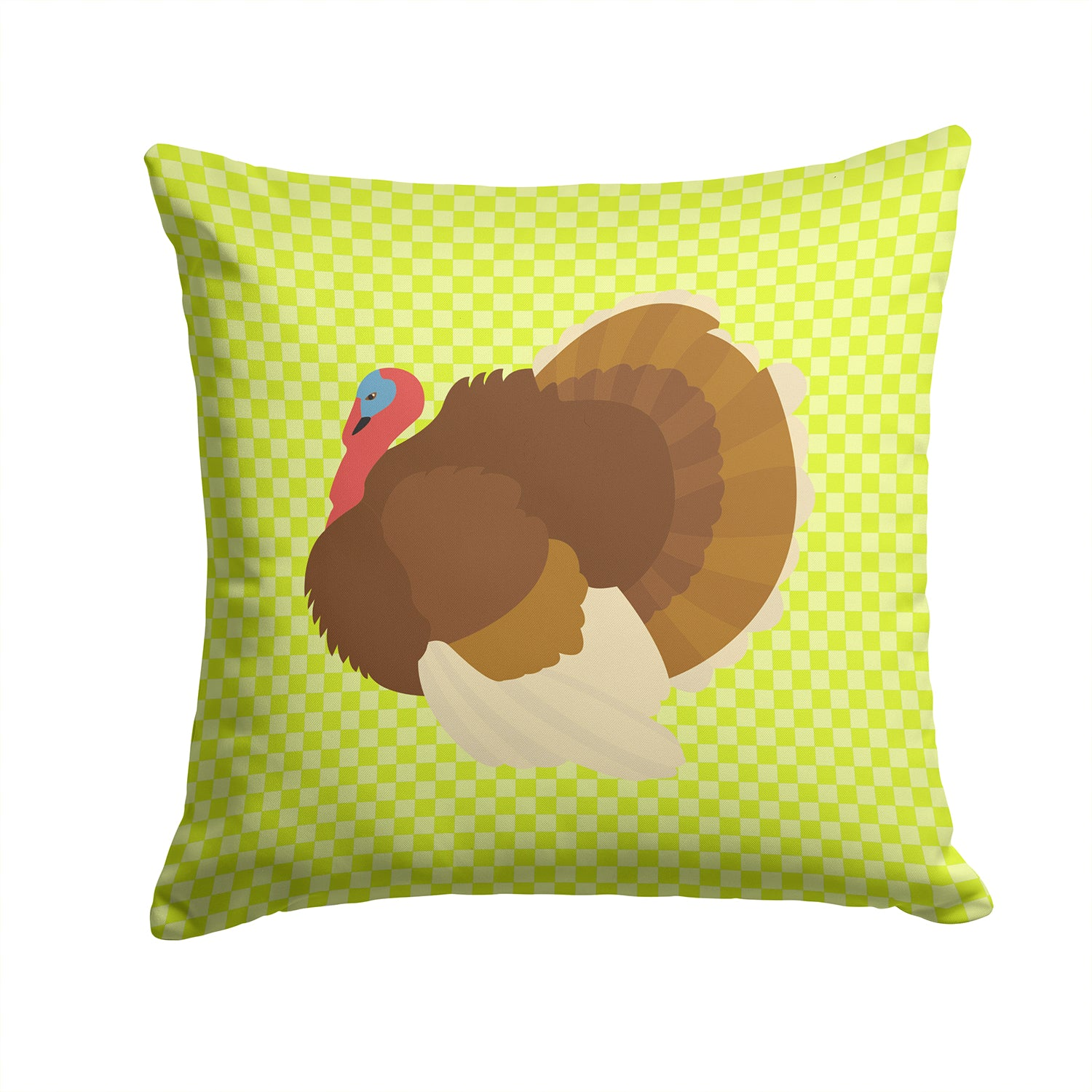 French Turkey Dindon Green Fabric Decorative Pillow BB7816PW1414 by Caroline's Treasures