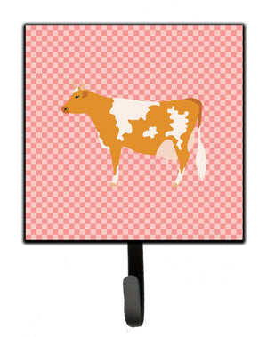 Buy this Guernsey Cow Pink Check Leash or Key Holder