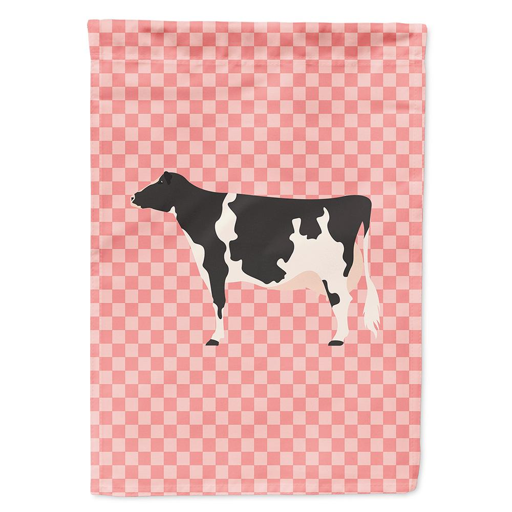Holstein Cow Pink Check Flag Garden Size by Caroline's Treasures