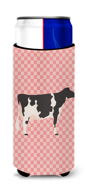 Buy this Holstein Cow Pink Check Michelob Ultra Hugger for slim cans