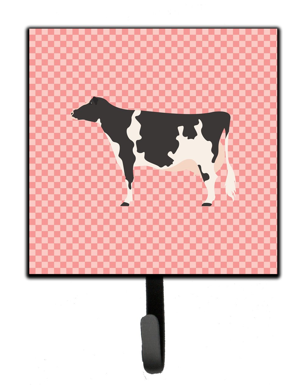 Holstein Cow Pink Check Leash or Key Holder by Caroline's Treasures