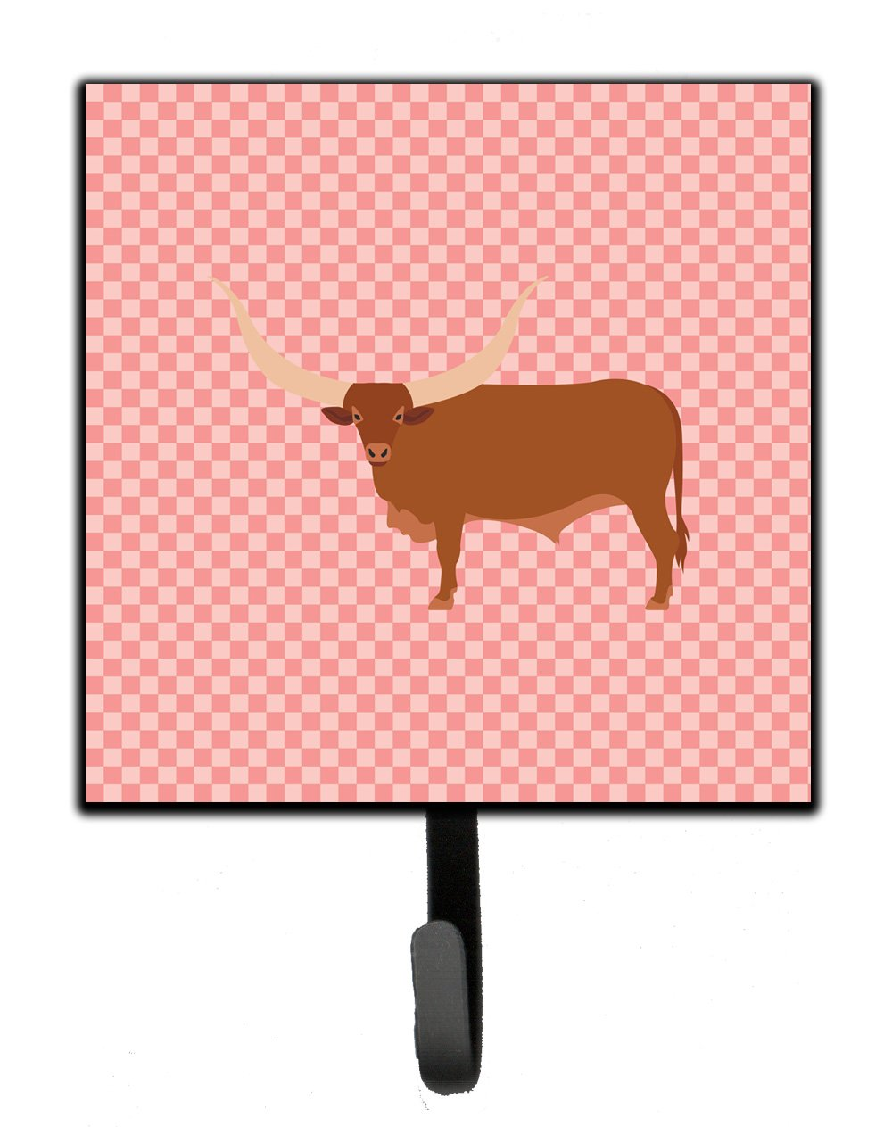 Buy this Ankole-Watusu Cow Pink Check Leash or Key Holder