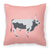 Hungarian Grey Steppe Cow Pink Check Fabric Decorative Pillow BB7824PW1818 by Caroline's Treasures