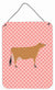 Jersey Cow Pink Check Wall or Door Hanging Prints BB7829DS1216 by Caroline's Treasures