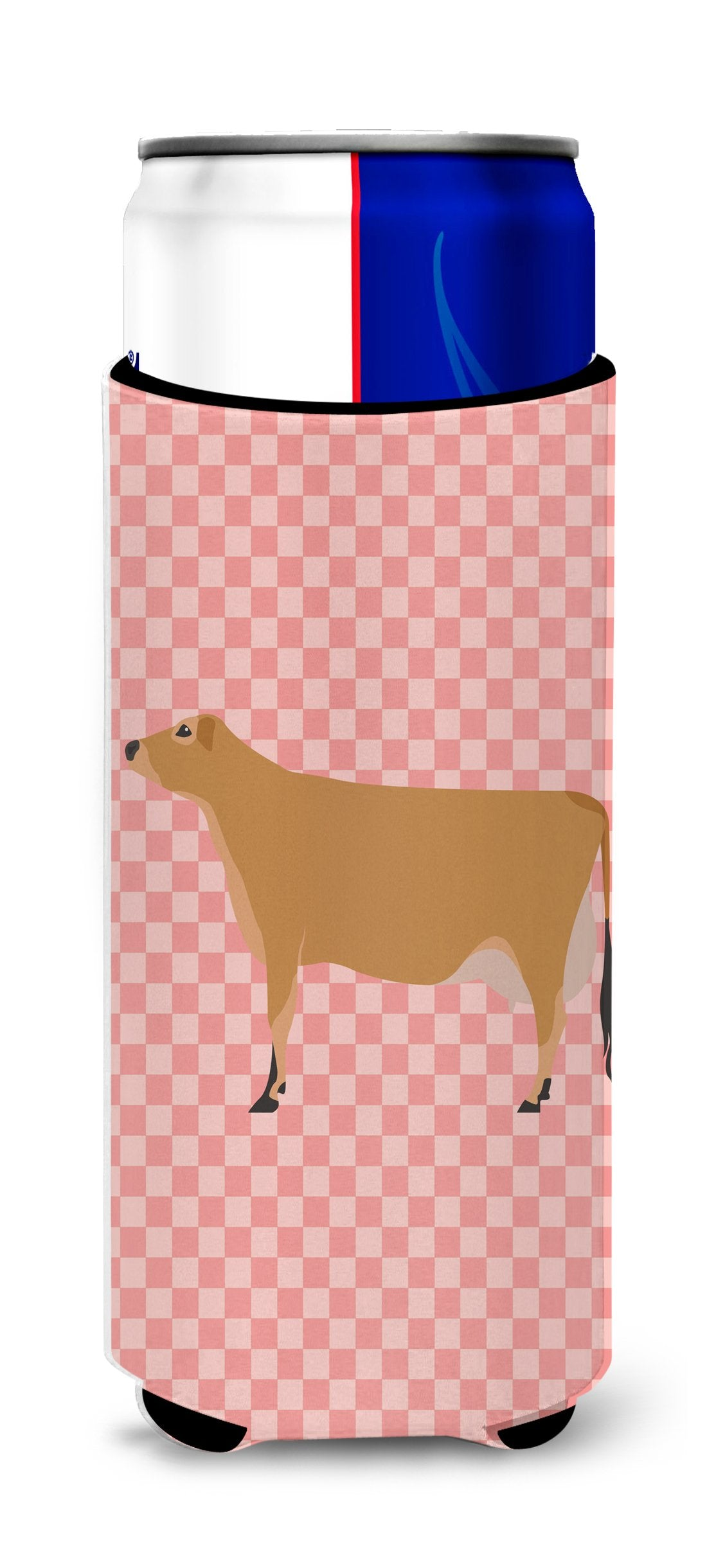 Buy this Jersey Cow Pink Check Michelob Ultra Hugger for slim cans