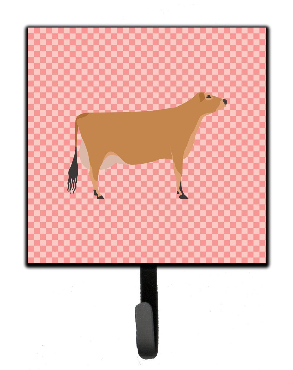 Buy this Jersey Cow Pink Check Leash or Key Holder