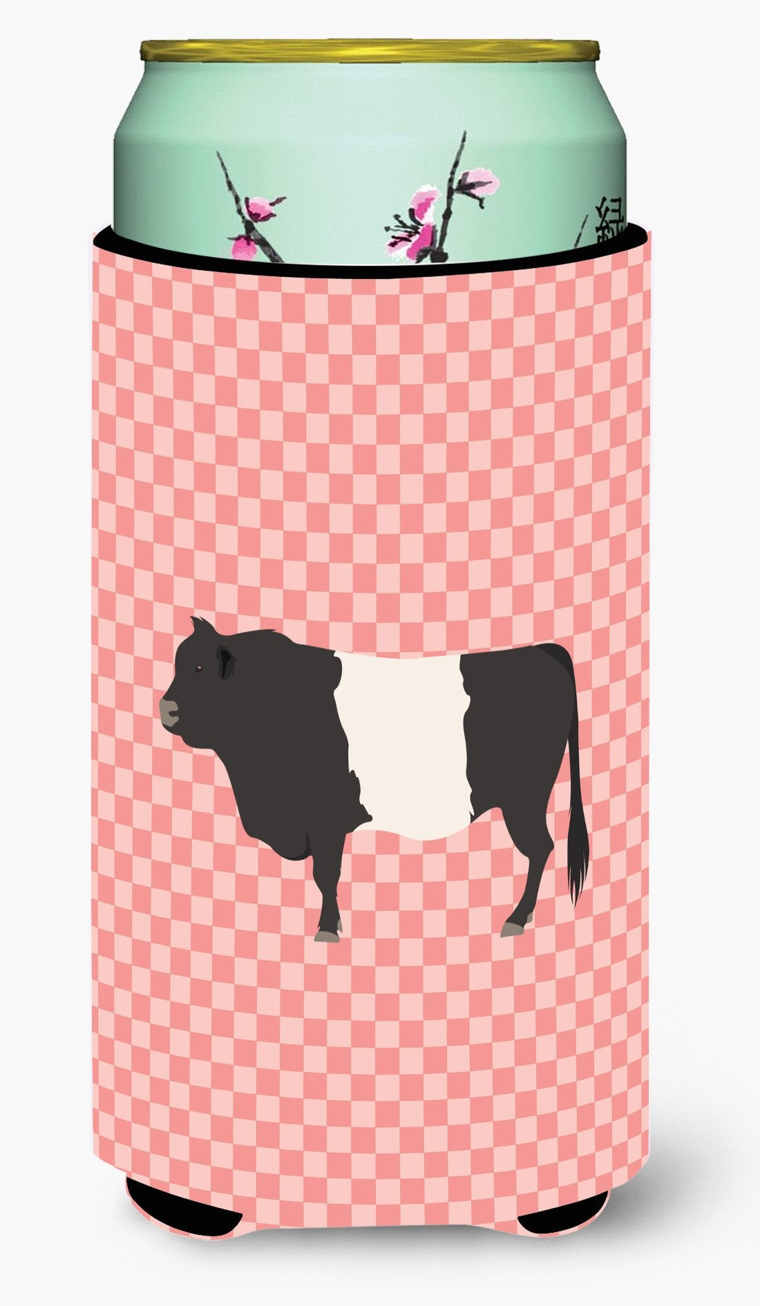 Belted Galloway Cow Pink Check Tall Boy Beverage Insulator Hugger BB7831TBC by Caroline's Treasures