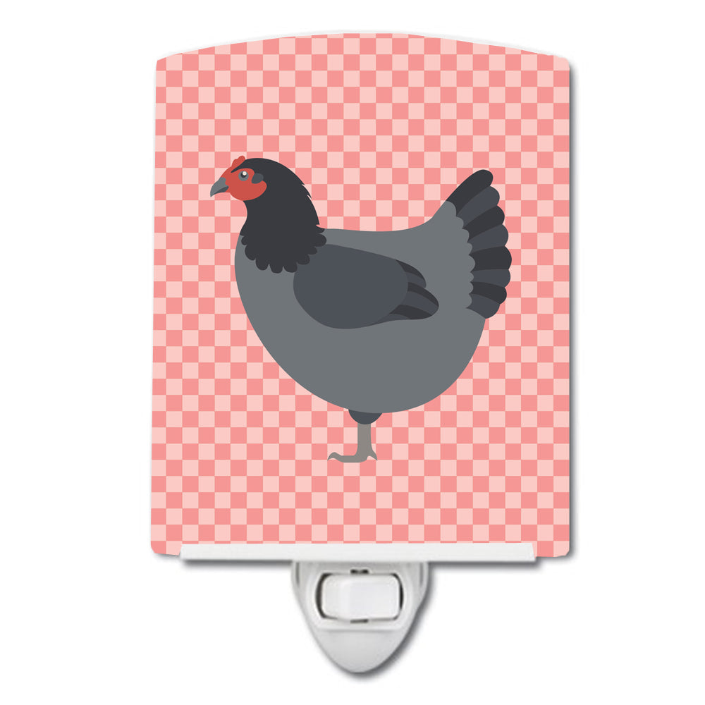Jersey Giant Chicken Pink Check Ceramic Night Light BB7835CNL by Caroline's Treasures