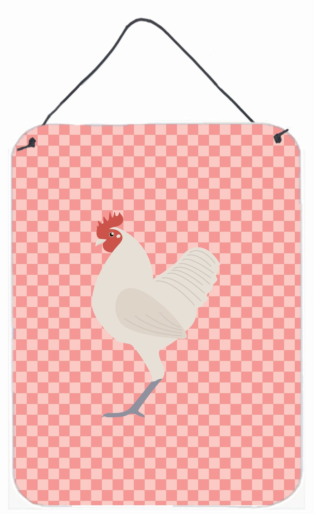 German Langshan Chicken Pink Check Wall or Door Hanging Prints BB7837DS1216 by Caroline's Treasures