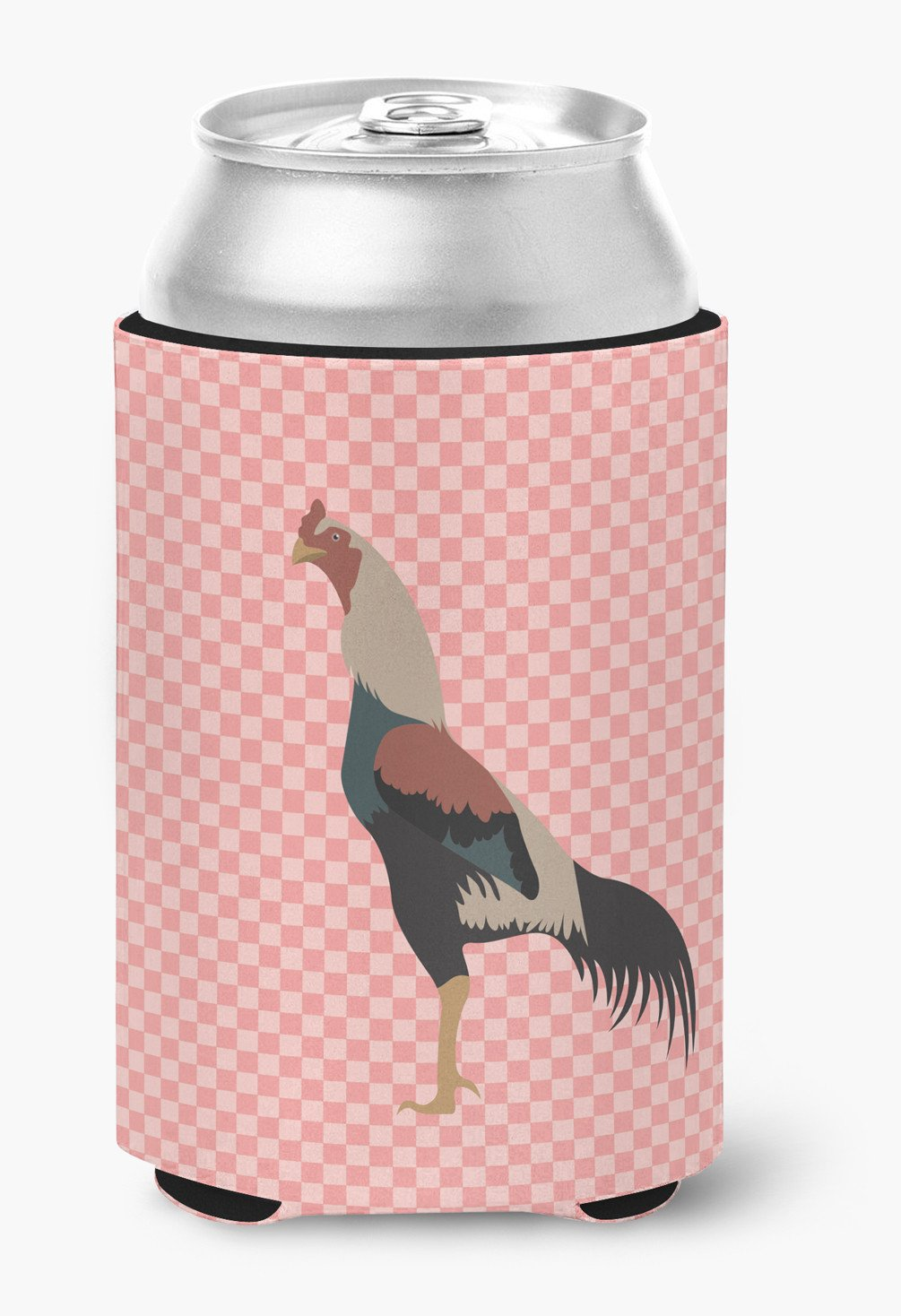 Kulang Chicken Pink Check Can or Bottle Hugger BB7838CC by Caroline's Treasures