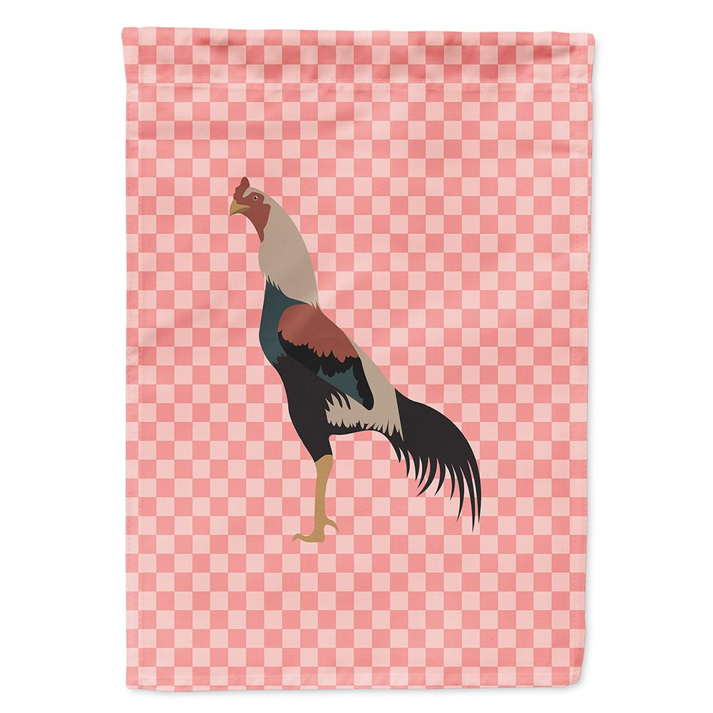 Kulang Chicken Pink Check Flag Garden Size by Caroline's Treasures
