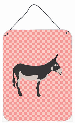 Buy this American Mammoth Jack Donkey Pink Check Wall or Door Hanging Prints BB7844DS1216
