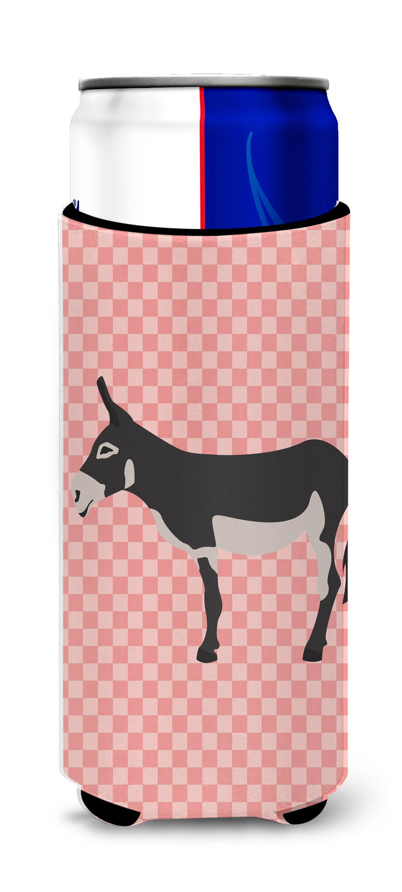 Buy this American Mammoth Jack Donkey Pink Check Michelob Ultra Hugger for slim cans