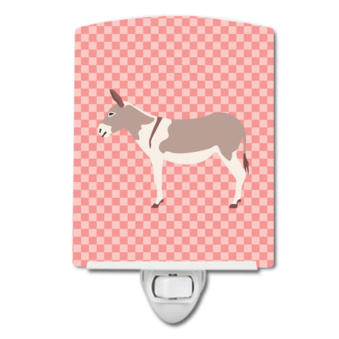 Buy this Australian Teamster Donkey Pink Check Ceramic Night Light BB7846CNL