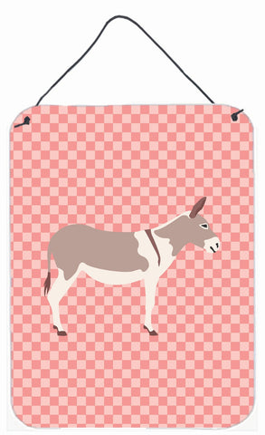 Buy this Australian Teamster Donkey Pink Check Wall or Door Hanging Prints BB7846DS1216